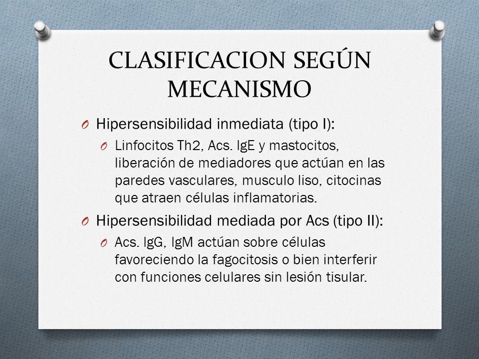 CLASIFICACION SEGÚN MECANISMO