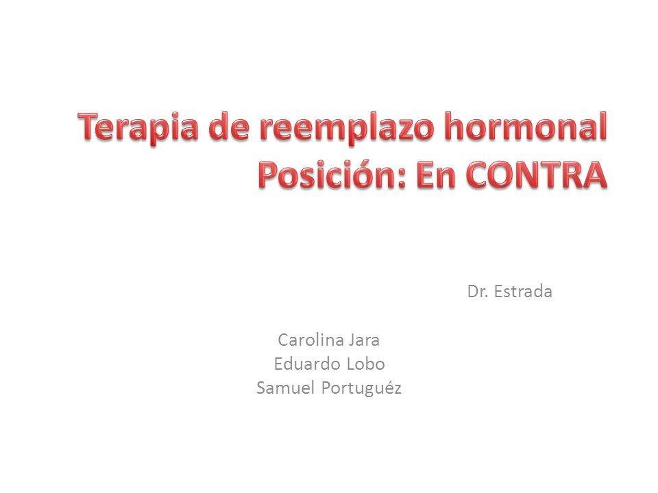 Terapia de reemplazo hormonal Posición: En CONTRA