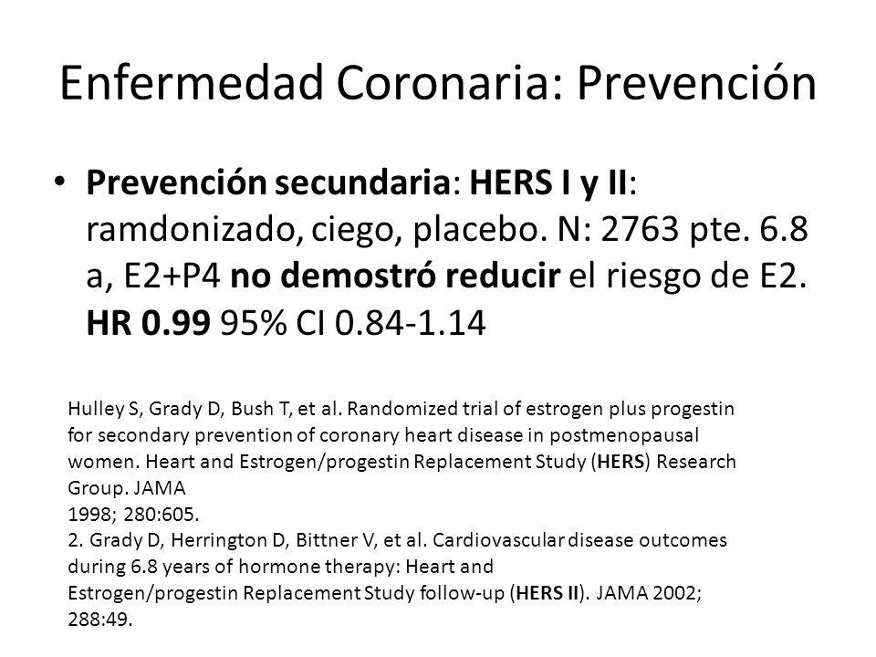 Enfermedad Coronaria: Prevención