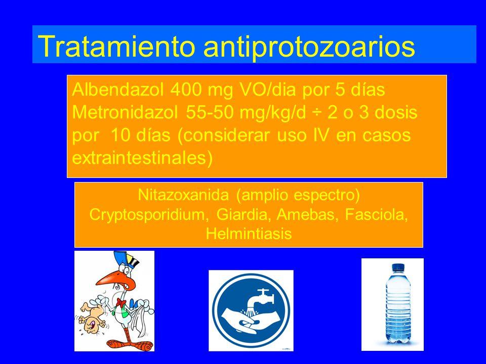 Tratamiento antiprotozoarios
