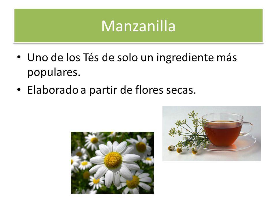 Manzanilla Uno de los Tés de solo un ingrediente más populares.
