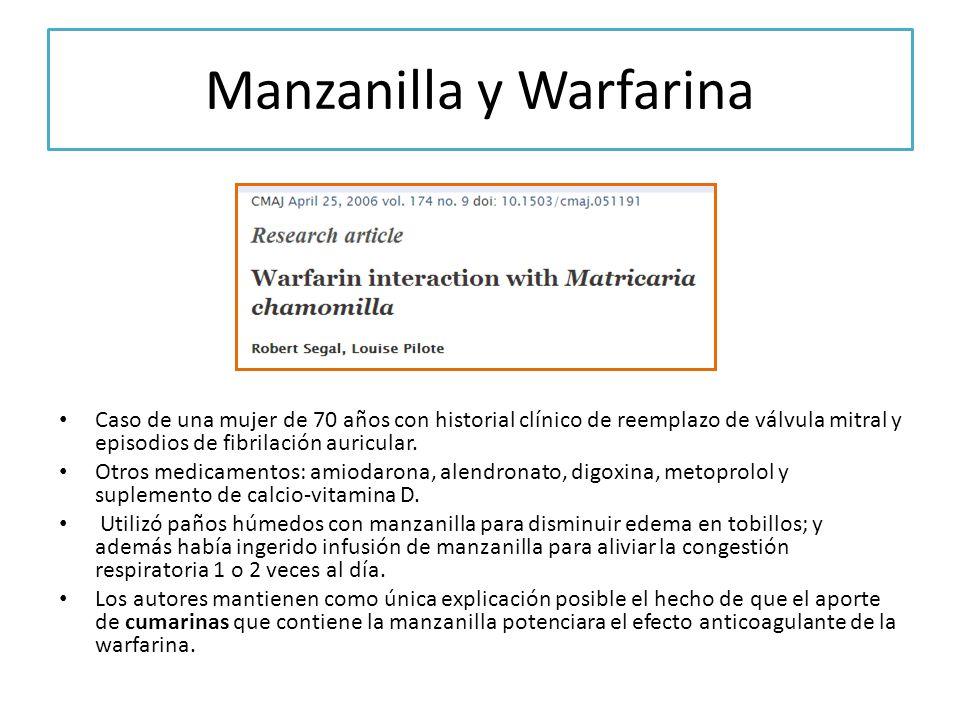 Manzanilla y Warfarina
