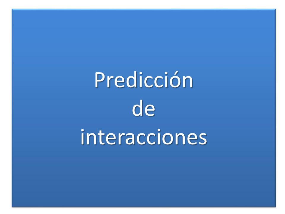 Predicción de interacciones