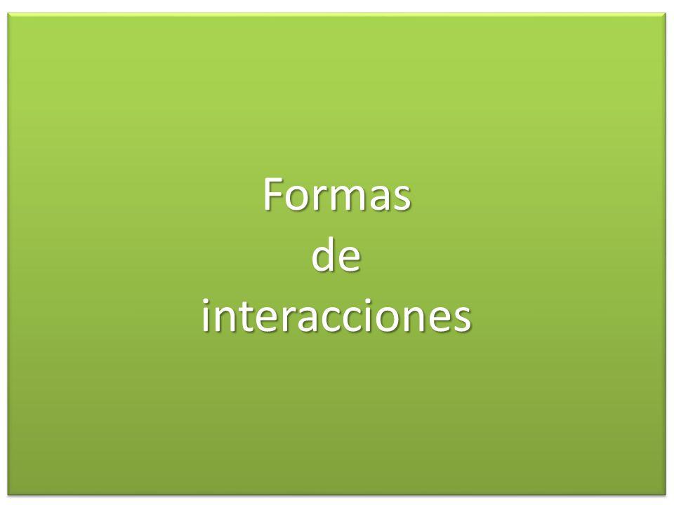 Formas de interacciones