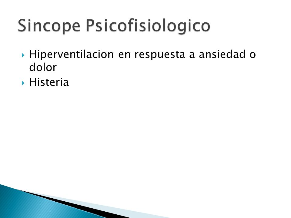 Sincope Psicofisiologico