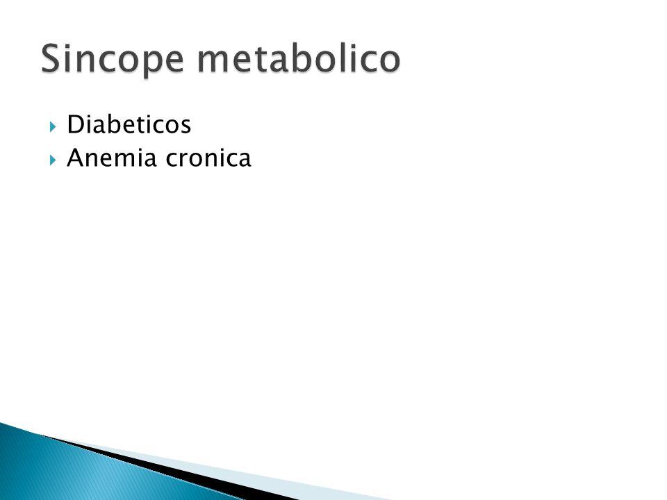 Sincope metabolico Diabeticos Anemia cronica