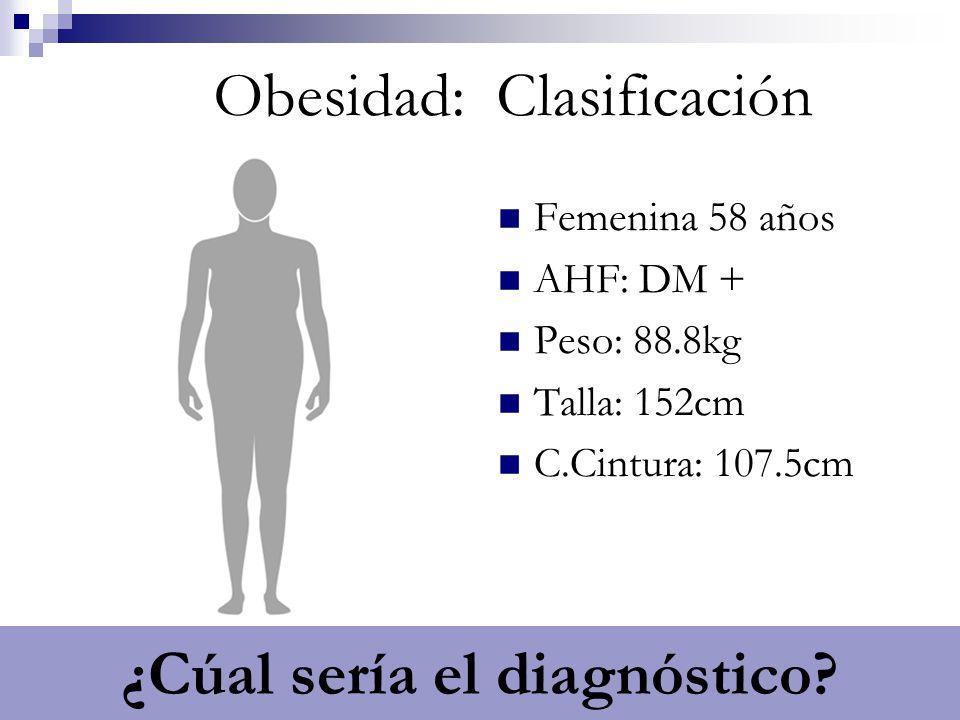 Obesidad: Clasificación