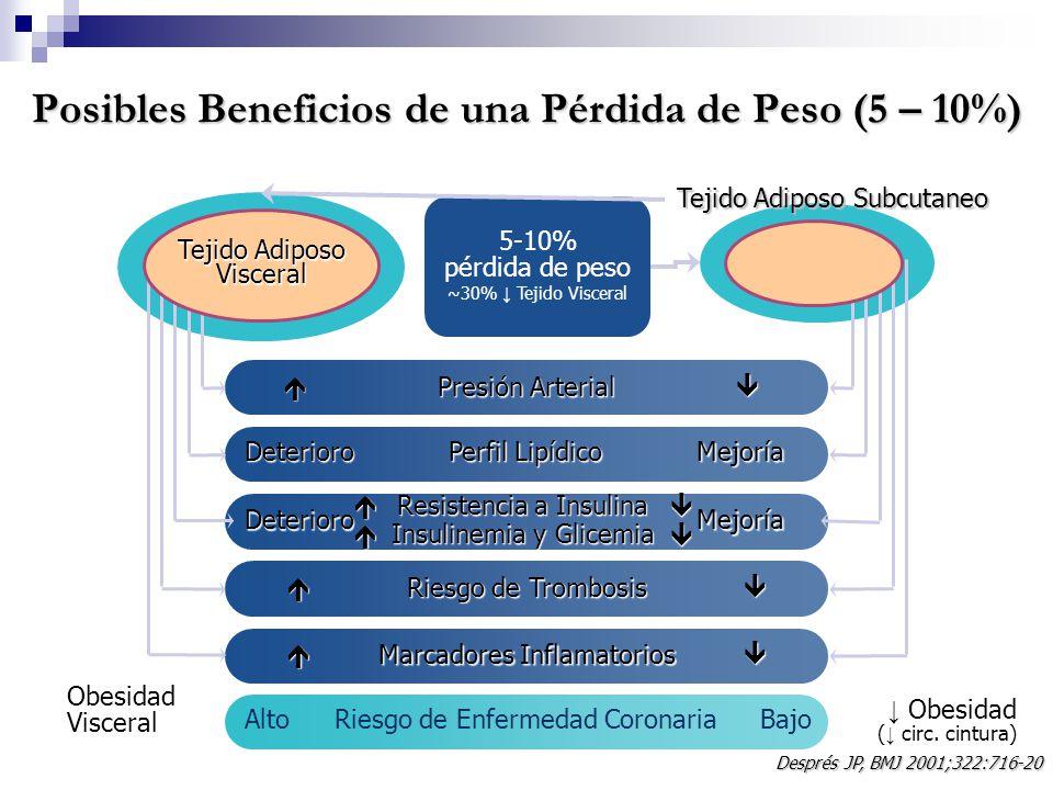 Posibles Beneficios de una Pérdida de Peso (5 – 10%)