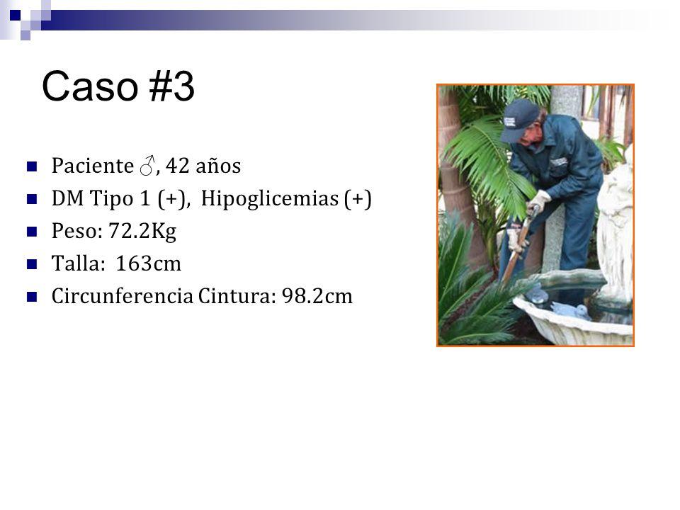 Caso #3 Paciente ♂, 42 años DM Tipo 1 (+), Hipoglicemias (+)