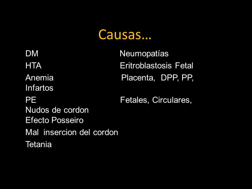 Causas… DM Neumopatías HTA Eritroblastosis Fetal
