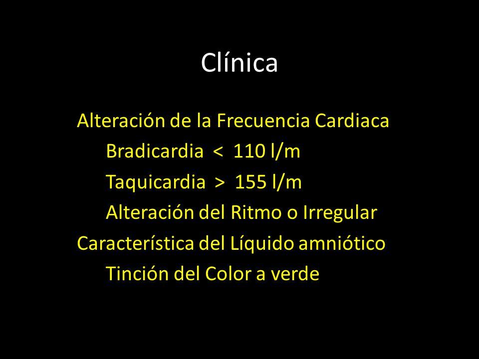 Clínica Alteración de la Frecuencia Cardiaca Bradicardia < 110 l/m