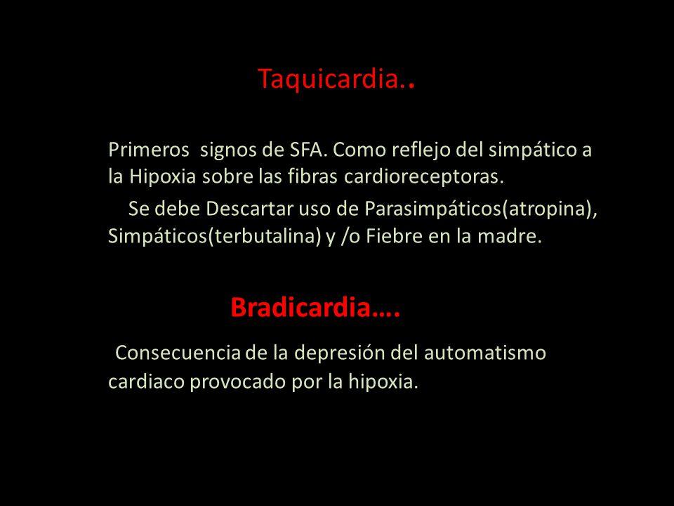 Taquicardia.. Bradicardia….