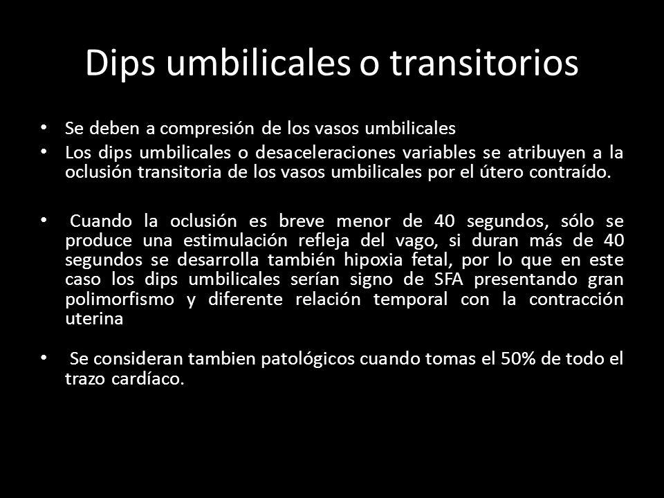 Dips umbilicales o transitorios