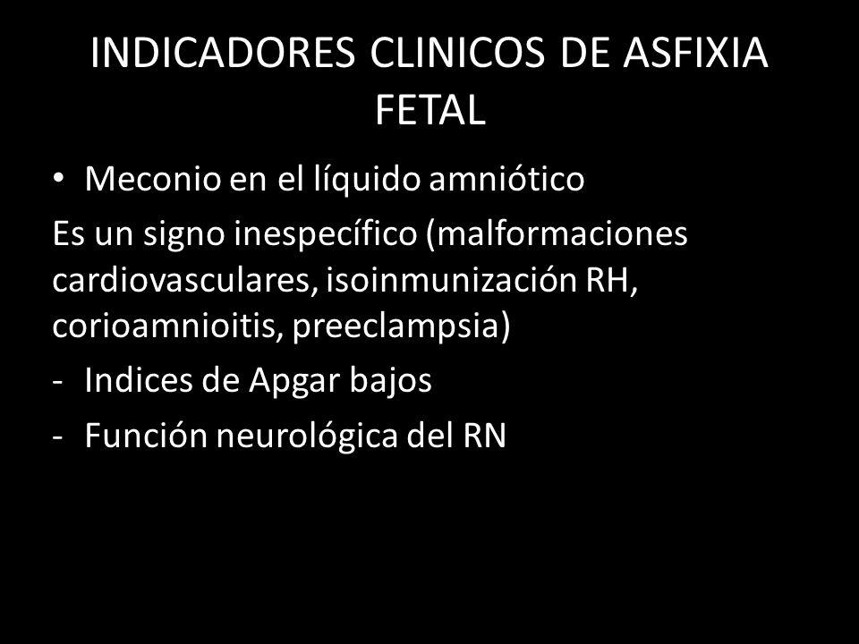 INDICADORES CLINICOS DE ASFIXIA FETAL