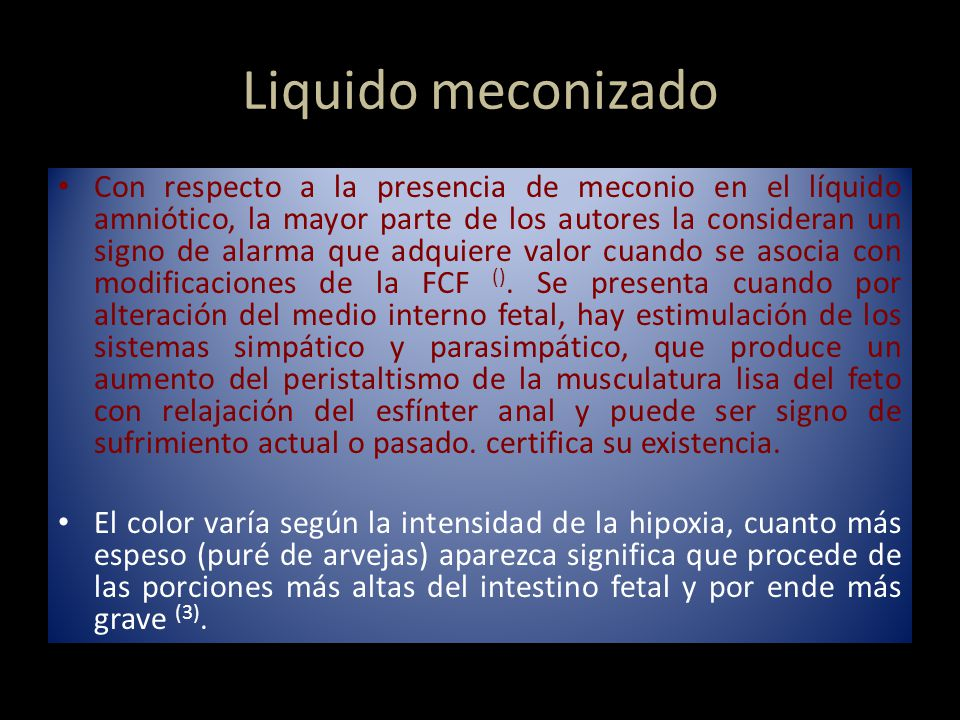 Liquido meconizado