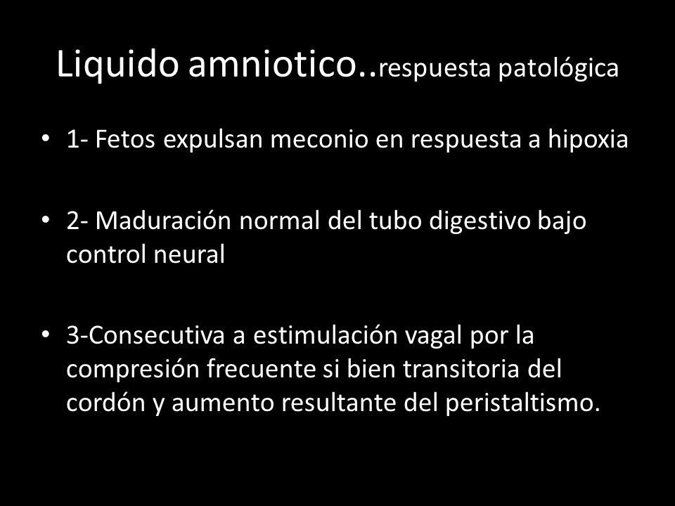 Liquido amniotico..respuesta patológica
