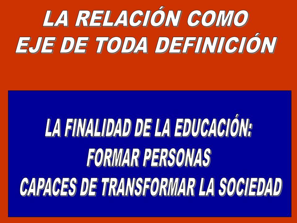 LA FINALIDAD DE LA EDUCACIÓN: FORMAR PERSONAS