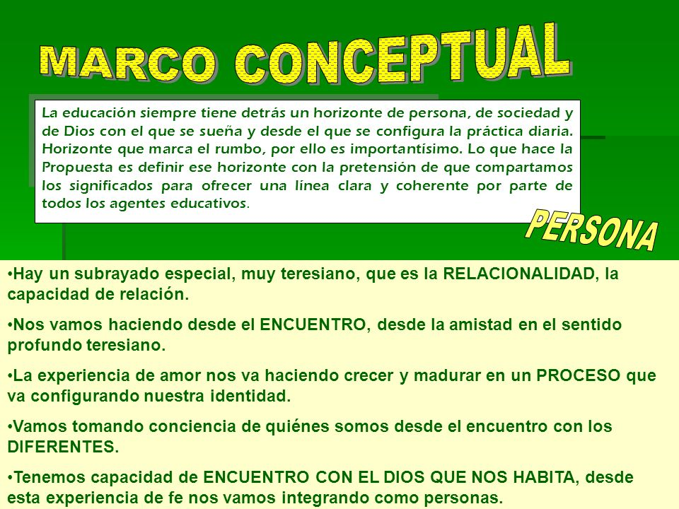 MARCO CONCEPTUAL MARCO CONCEPTUAL PERSONA