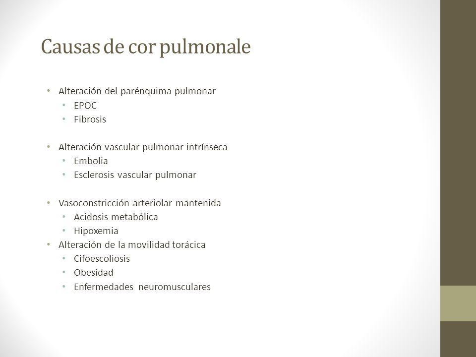 Causas de cor pulmonale