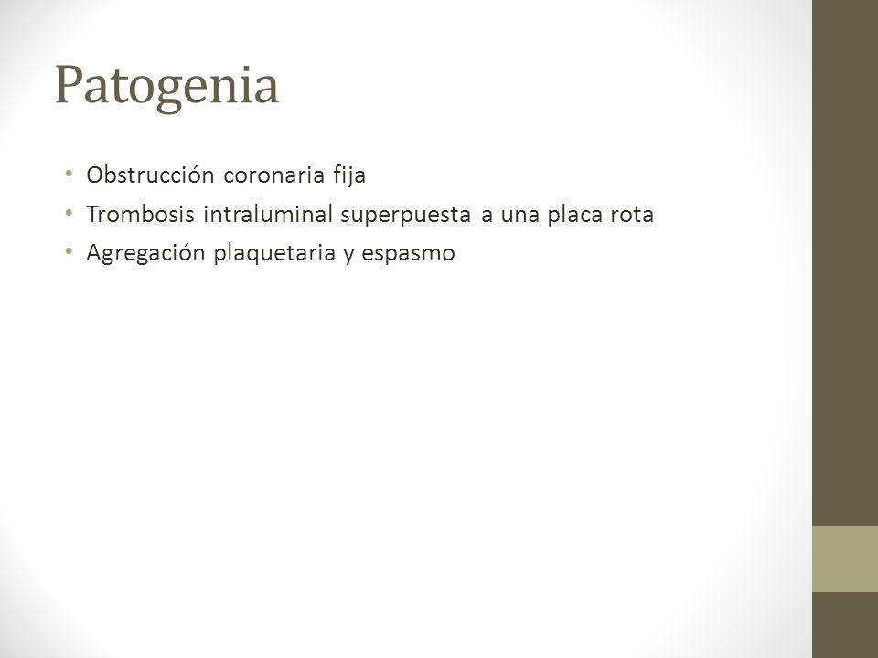 Patogenia Obstrucción coronaria fija