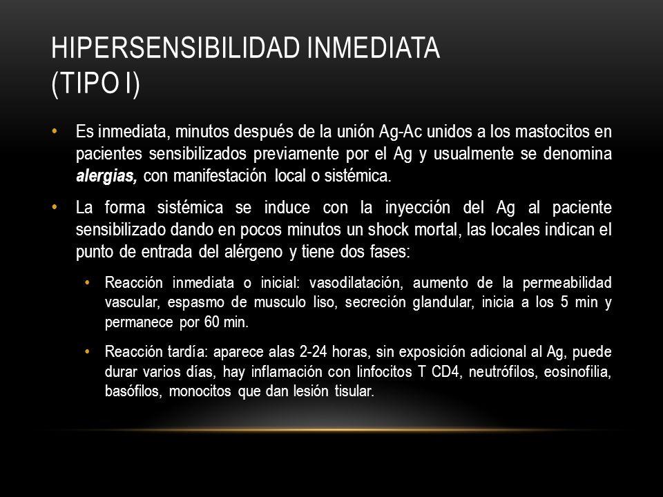 HIPERSENSIBILIDAD INMEDIATA (TIPO I)