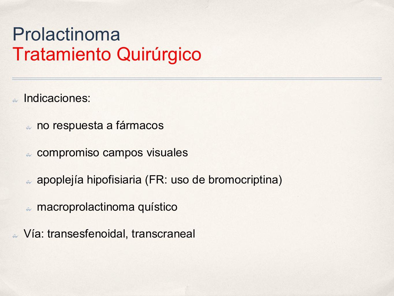 Prolactinoma Tratamiento Quirúrgico