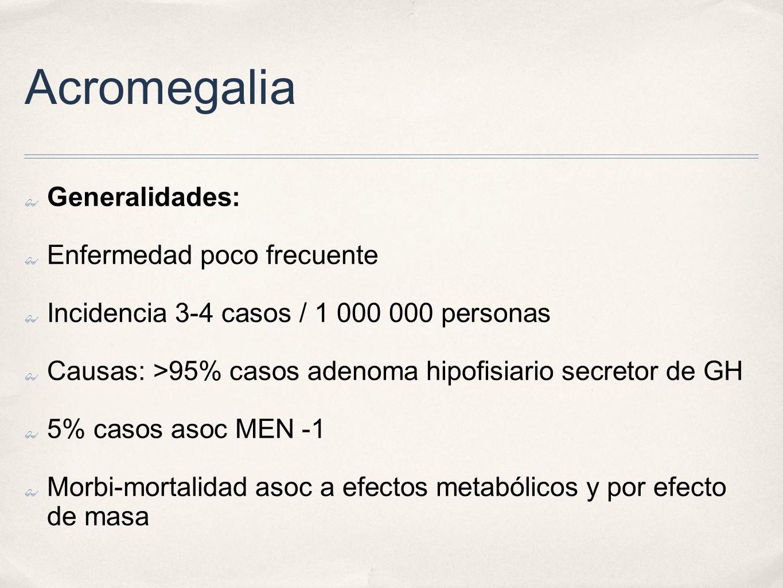 Acromegalia Generalidades: Enfermedad poco frecuente
