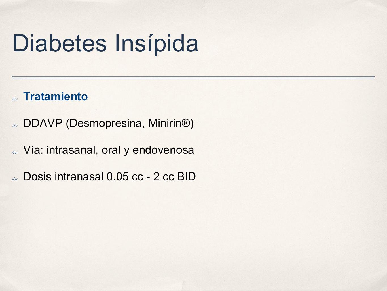 Diabetes Insípida Tratamiento DDAVP (Desmopresina, Minirin®)