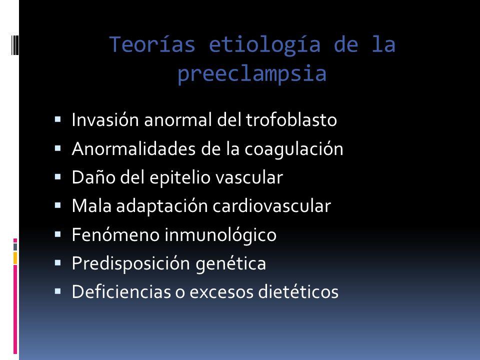 Teorías etiología de la preeclampsia