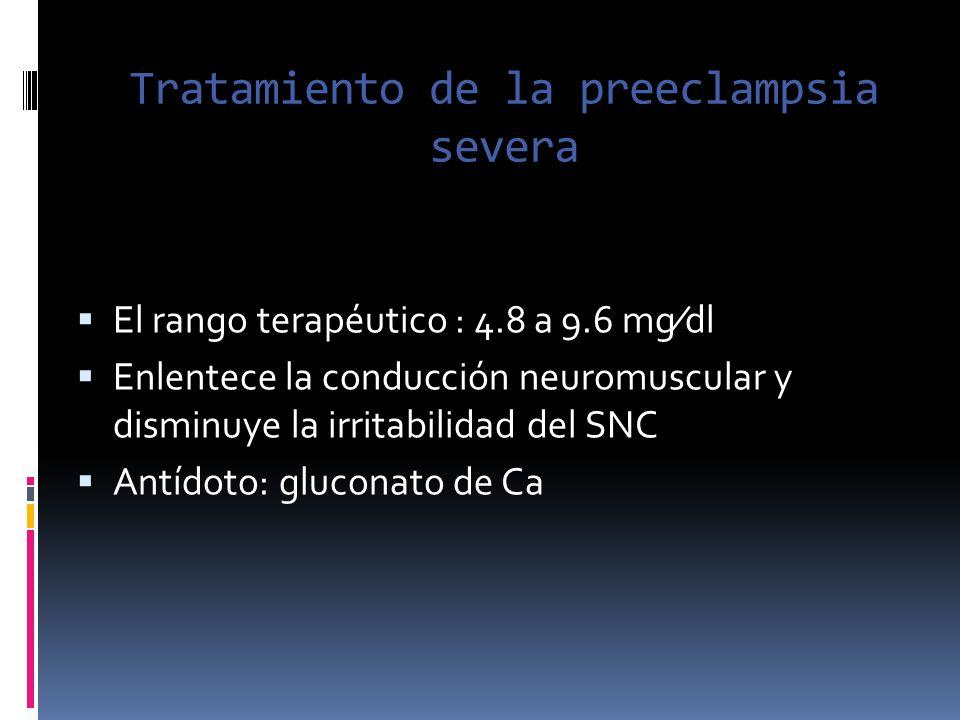 Tratamiento de la preeclampsia severa