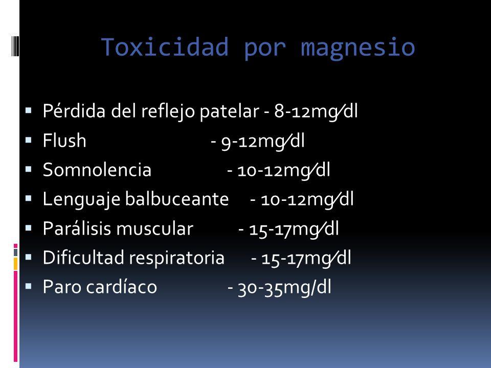 Toxicidad por magnesio