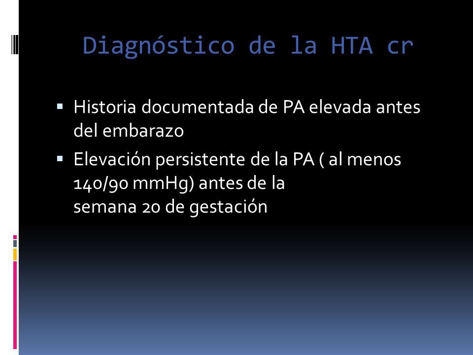 Diagnóstico de la HTA cr