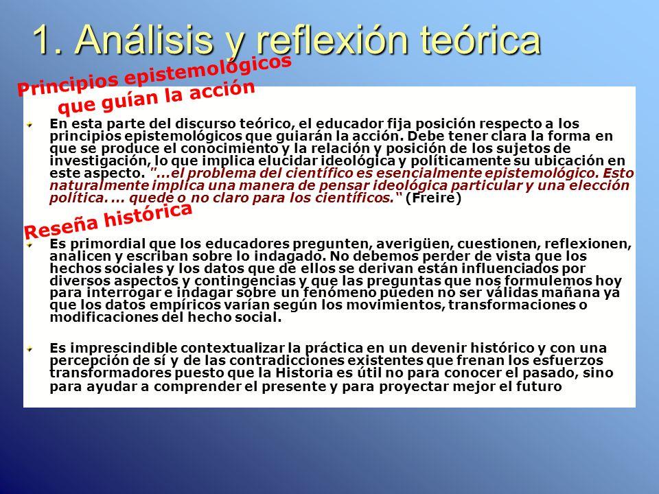 1. Análisis y reflexión teórica