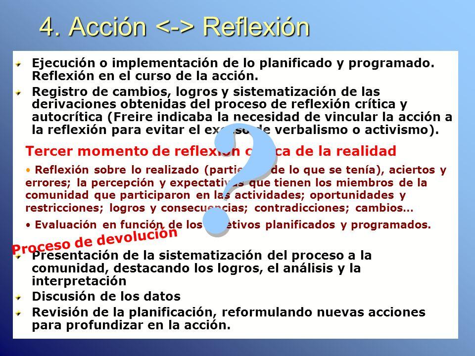 4. Acción <-> Reflexión