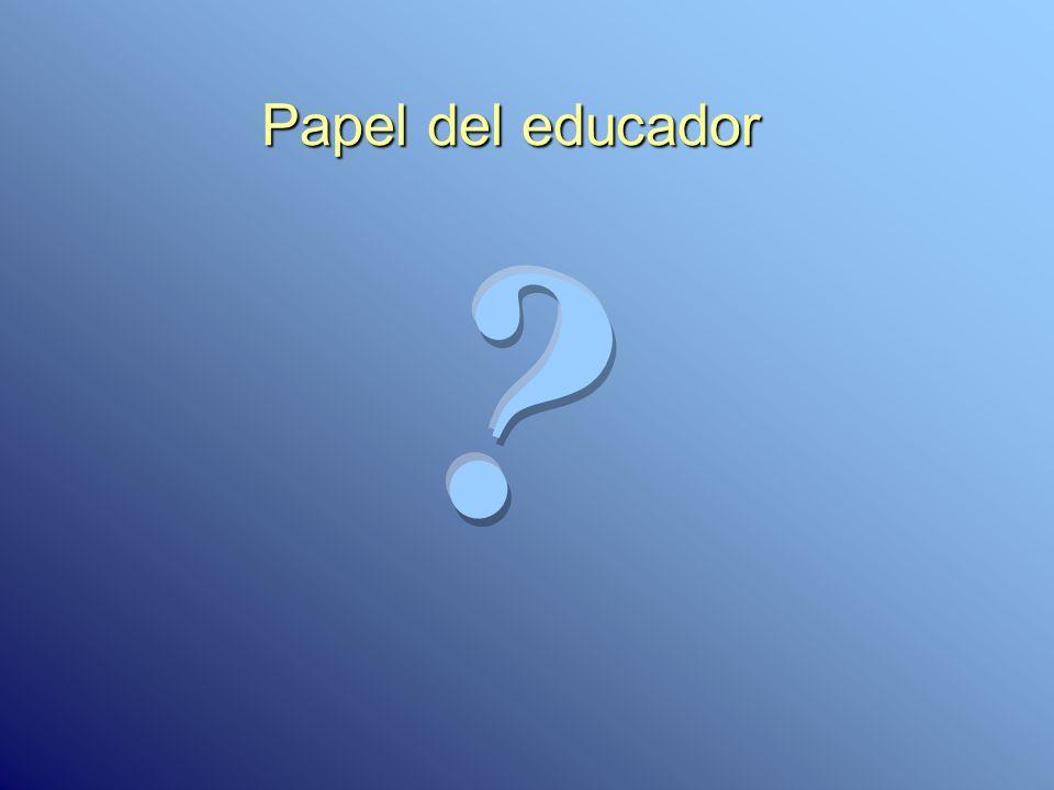 Papel del educador