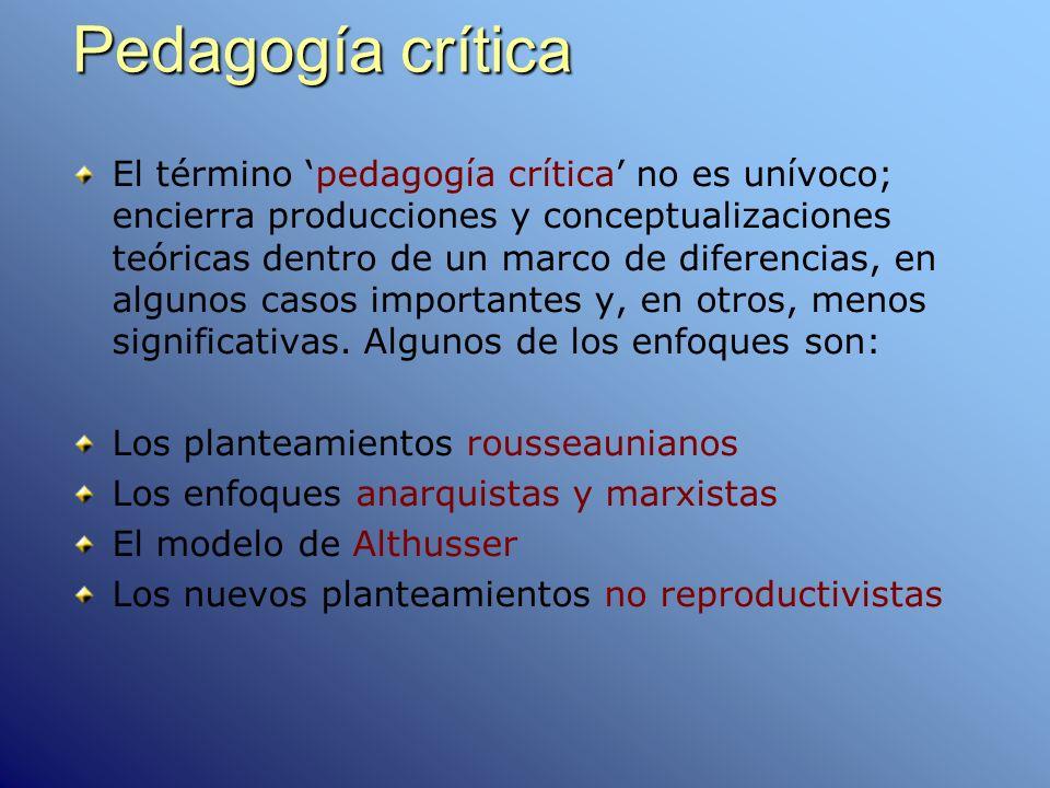 Pedagogía crítica