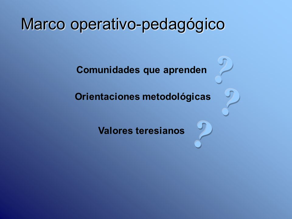 Marco operativo-pedagógico