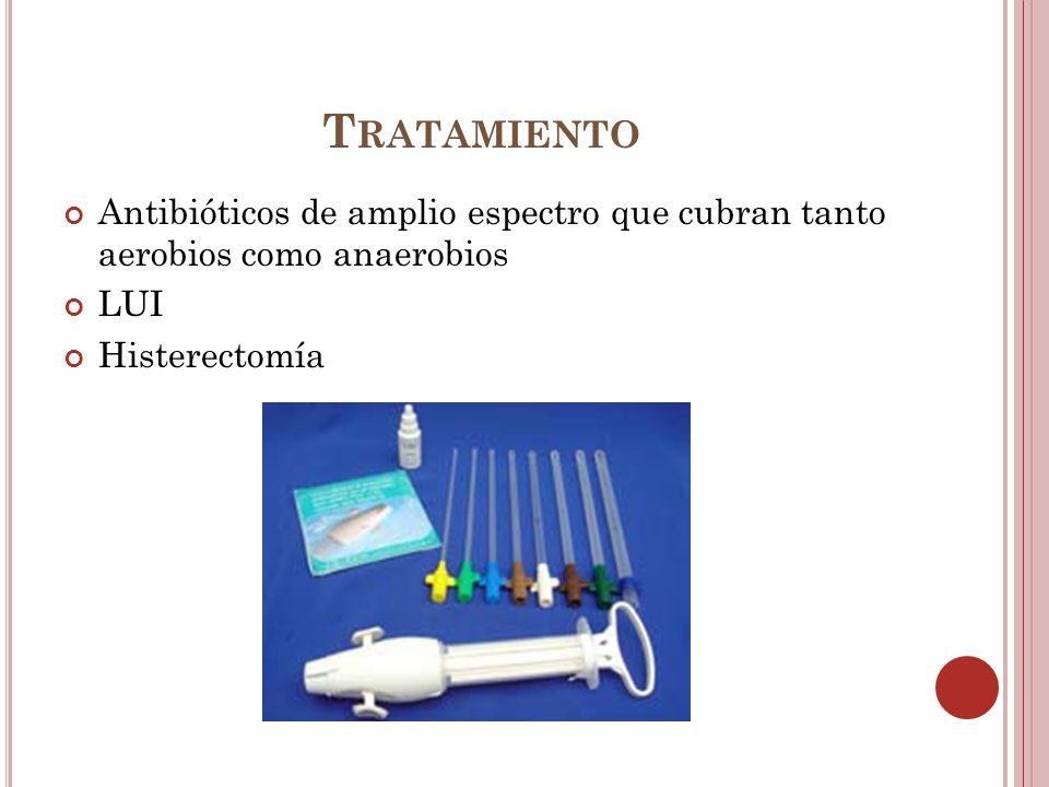 Tratamiento Antibióticos de amplio espectro que cubran tanto aerobios como anaerobios.