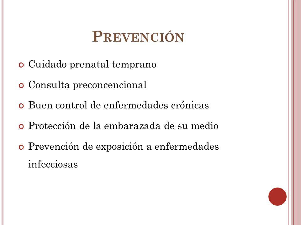 Prevención Cuidado prenatal temprano Consulta preconcencional