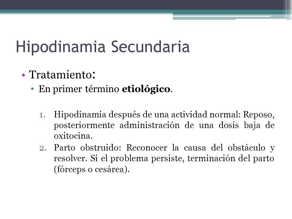 Hipodinamia Secundaria