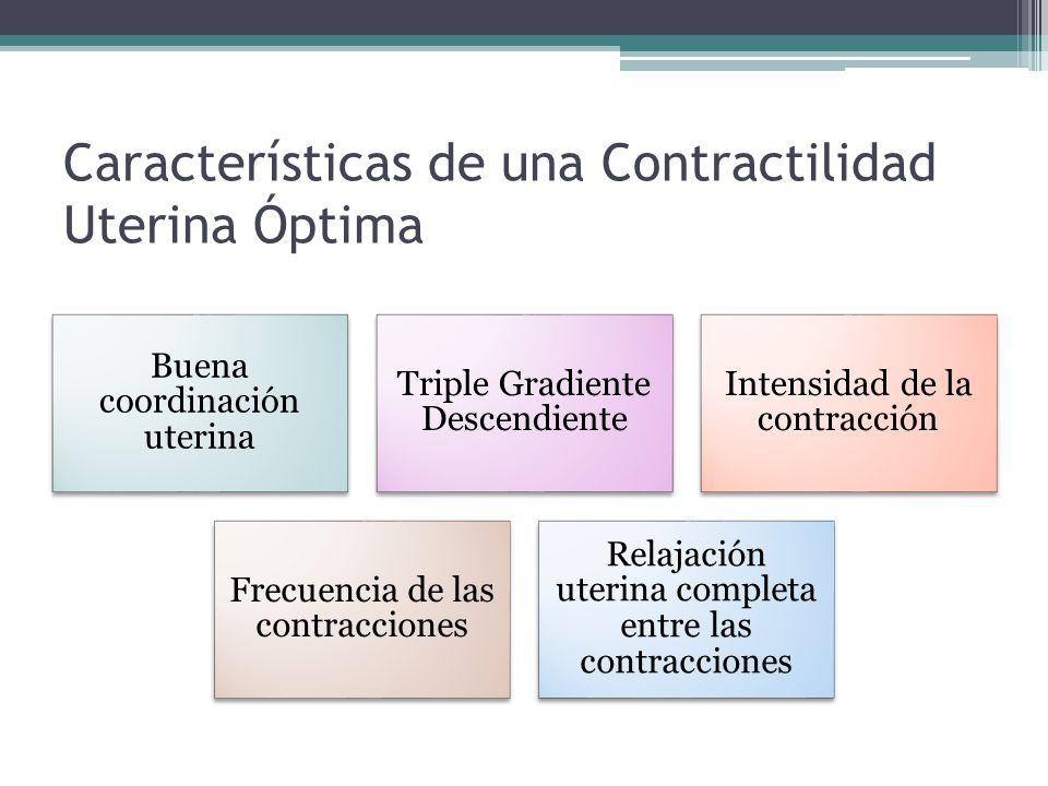 Características de una Contractilidad Uterina Óptima