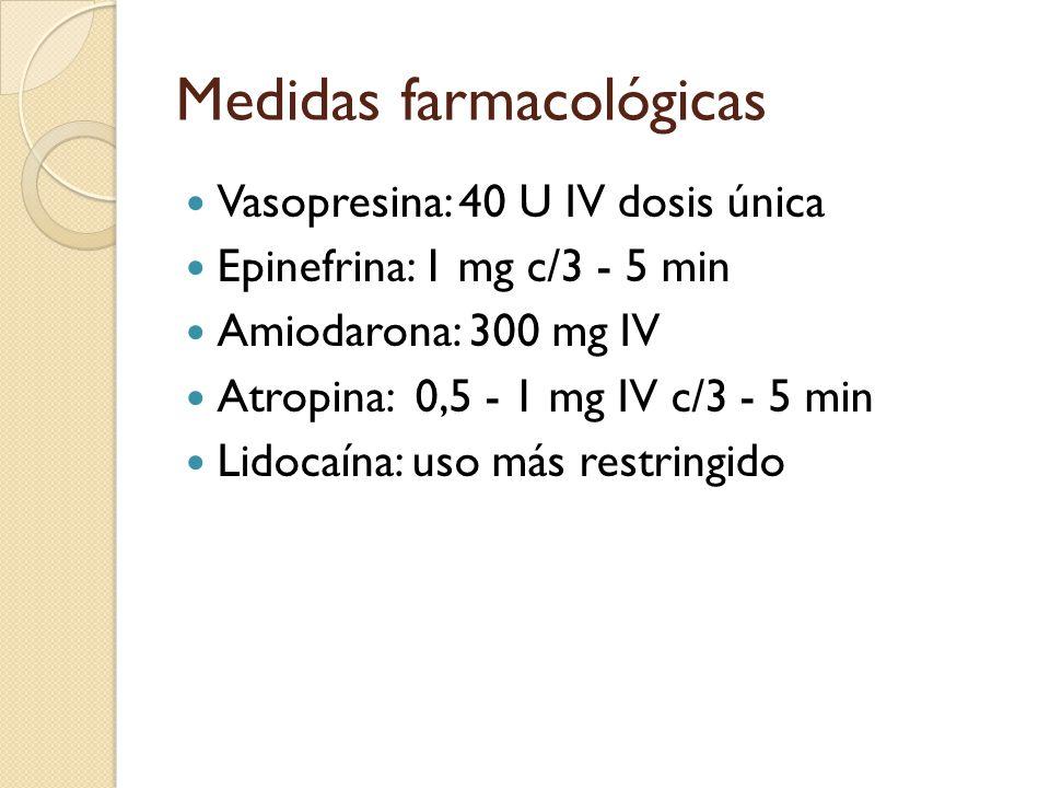 Medidas farmacológicas