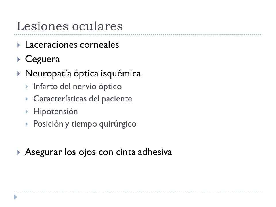 Lesiones oculares Laceraciones corneales Ceguera