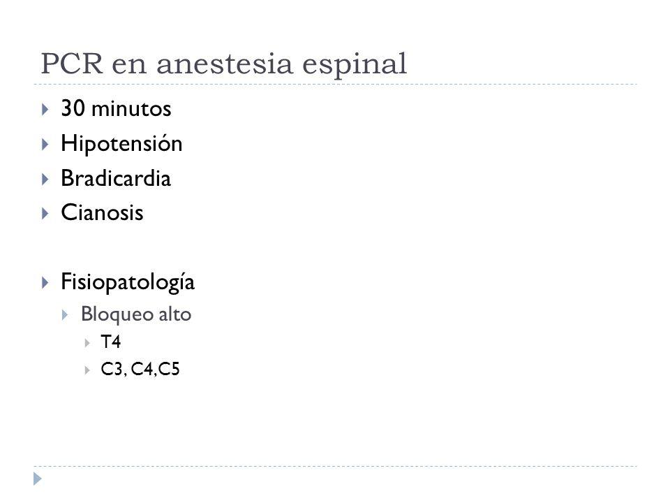 PCR en anestesia espinal
