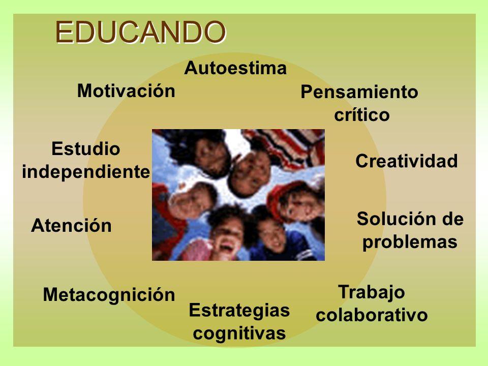 EDUCANDO Autoestima Motivación Pensamiento crítico Estudio Creatividad