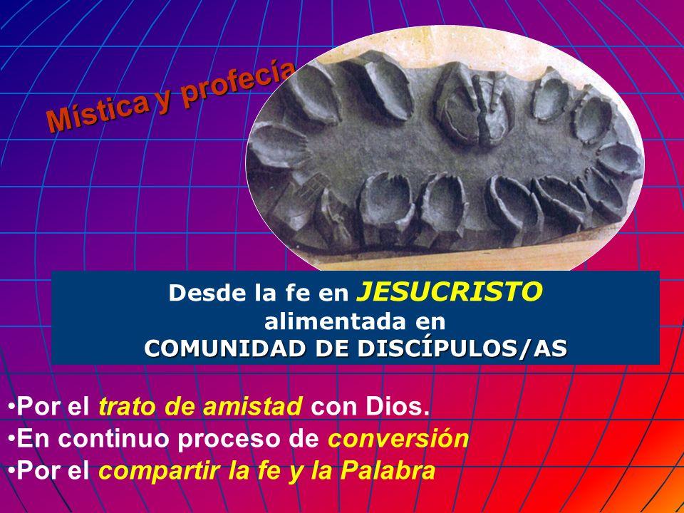 Desde la fe en JESUCRISTO COMUNIDAD DE DISCÍPULOS/AS