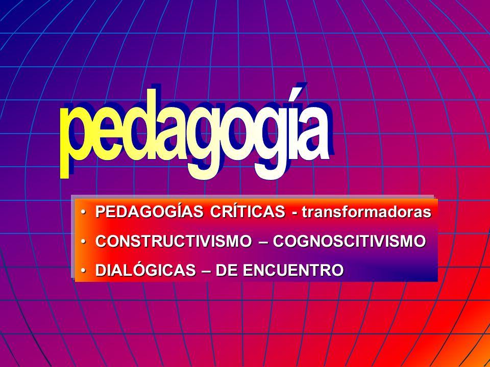 pedagogía PEDAGOGÍAS CRÍTICAS - transformadoras
