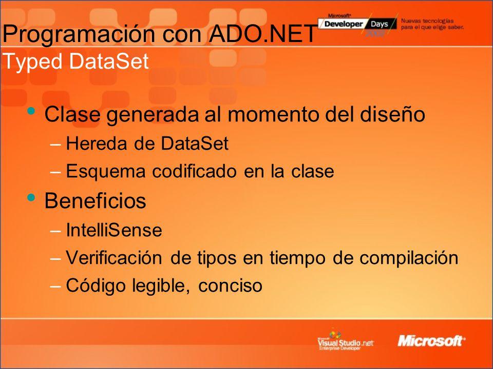 visual studio ado.net how to create dataset