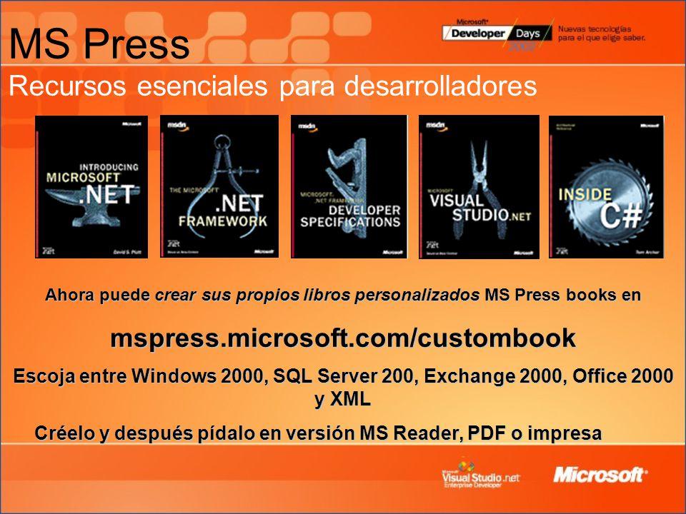MS Press Recursos esenciales para desarrolladores