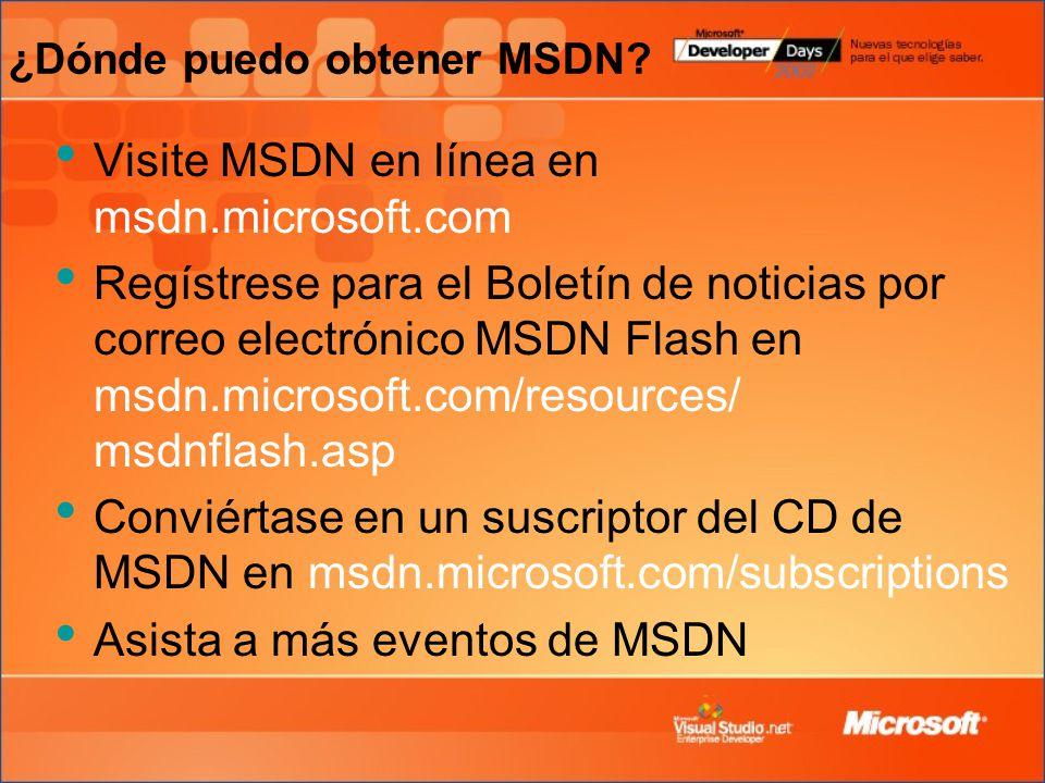¿Dónde puedo obtener MSDN